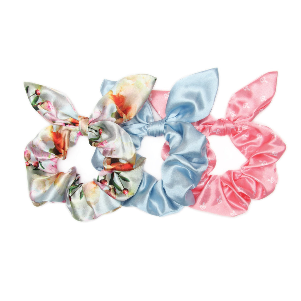 Banded - Peony Splendor - 3 Pack Bow Scrunchies
