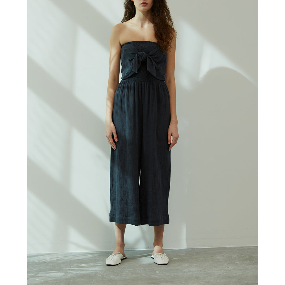 Grade & Gather - Front Tie Jumpsuit - Dark Teal