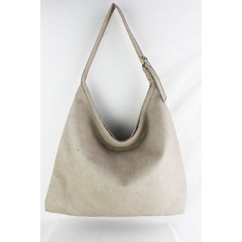 Street Level - Ivory Large Hobo Bag with Double Strap Handle