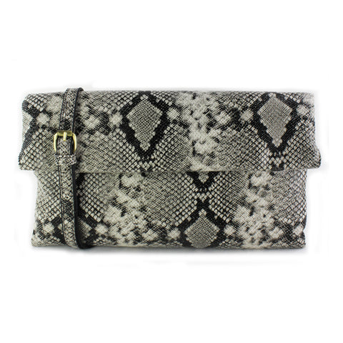 Street Level - Snake Foldover Clutch