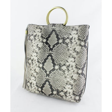 Street Level - Snake Tote with Ring Handles