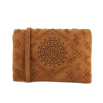 Street Level - Brown Small Crossbody with Laser Cut Detail