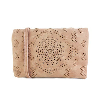 Street Level - Blush Small Crossbody with Laser Cut Detail