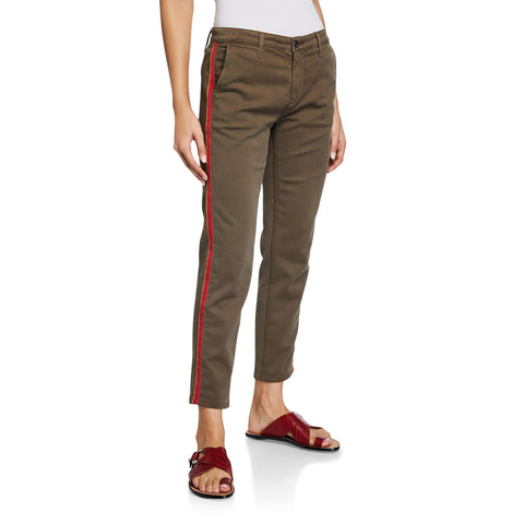 AG - Women's - Caden Stripe Crop Twill Trousers In Portobello Road