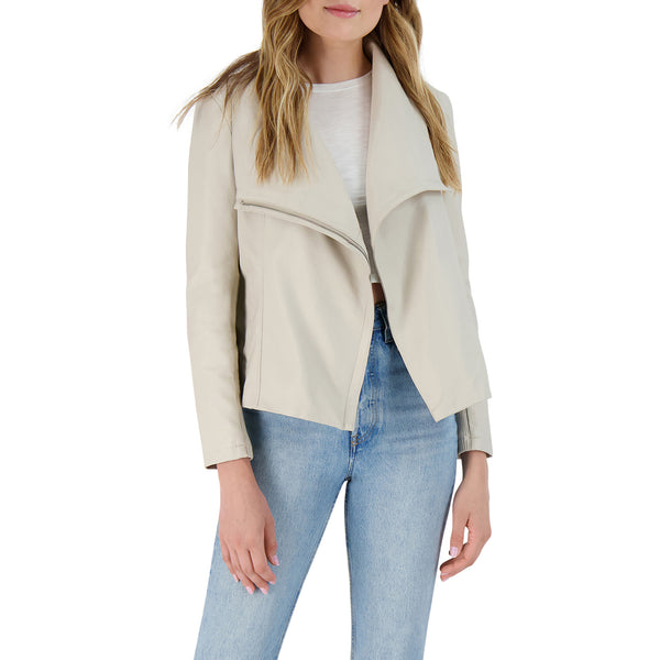 BB Dakota - Up To Speed Vegan Leather Jacket - Bone