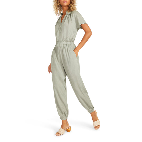 BB Dakota - Takin' Care of Biz Jumpsuit - Sage
