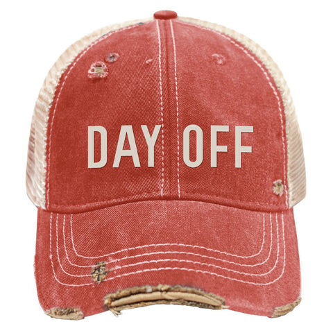 Retro Brand - Day Off Snap Back Trucker Cap - Red