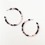 Acrylic 57mm Open Hoops - Black/White