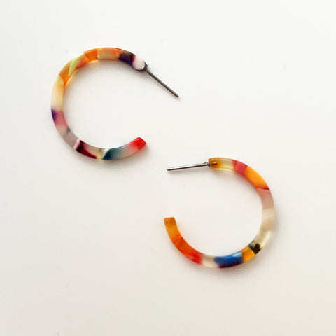 Acrylic 30mm Hoops - Multi