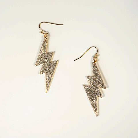 Glitter Lightning Earrings