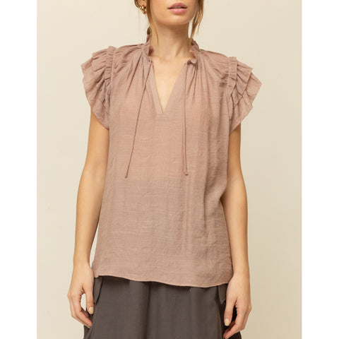 Grade & Gather - Ruffle Sleeve Blouse