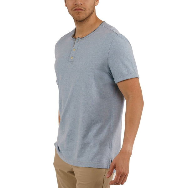 Jeremiah - Brook - Solid Jersey Henley - Marlin