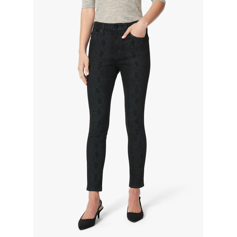 Joe's Jeans- The Icon Midrise Skinny Ankle- Black Snake Print