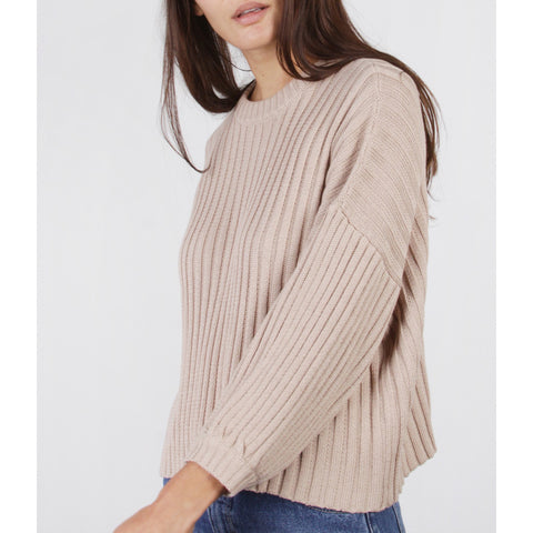 MOD REF - THE ETHAN SWEATER TOP - TAUPE