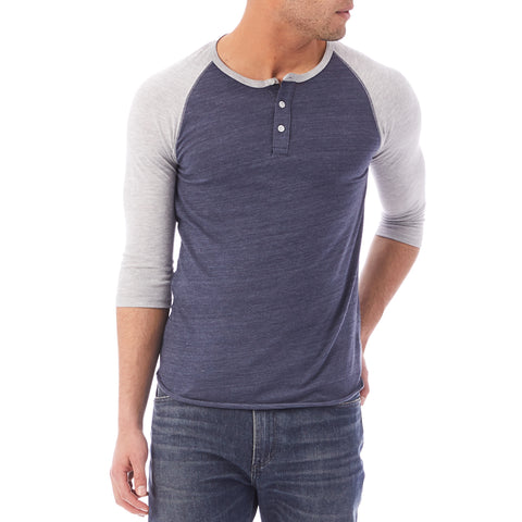 Alternative Apparel - Basic Eco-Jersey Raglan Henley Shirt