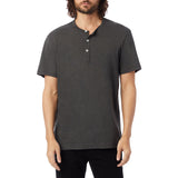 Alternative Apparel - Weathered Slub Henley Shirt - Washed Black