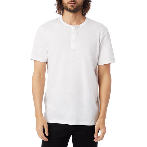 Alternative Apparel - Weathered Slub Henley Shirt - White