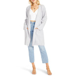 BB Dakota - Sweater with You Coat - Light Heather Grey