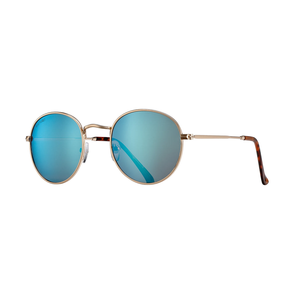 Blue Planet - Ash - Matte Gold/Ice Blue Mirror Polarized