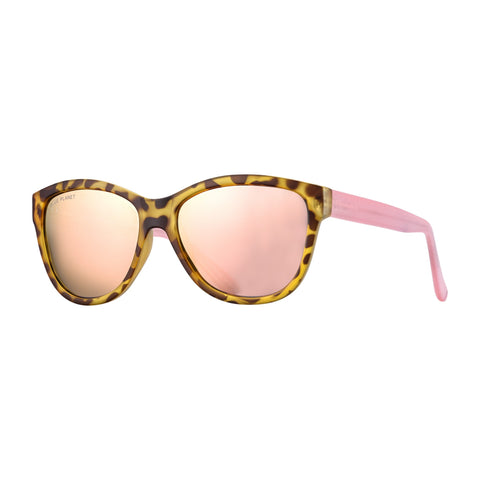 Blue Planet - Jordyn - Matte Tortoise/Crystal Rose/Rose Gold Mirror Polarized