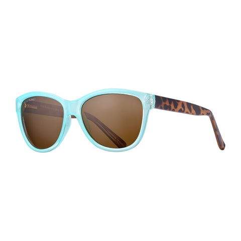 Blue Planet - Jordyn - Turquoise/Walnut Tortoise/Brown Polarized