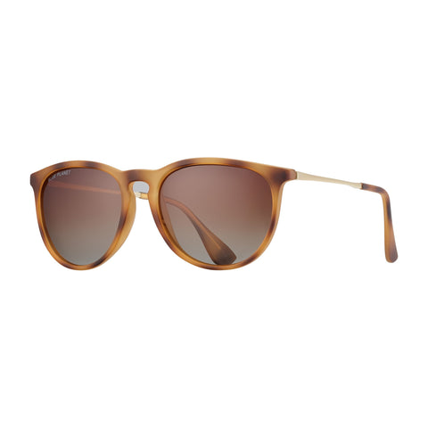 Blue Planet - Kelsea - Matte Marbled Brown/Matte Gold/Gradient Brown Polarized