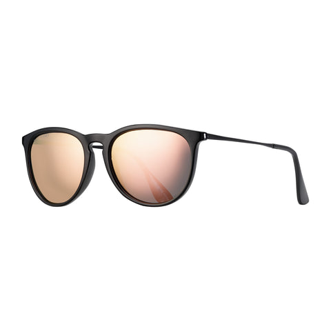 Blue Planet - Kelsea - Onyx/Matte Onyx/Rose Gold Mirror Polarized