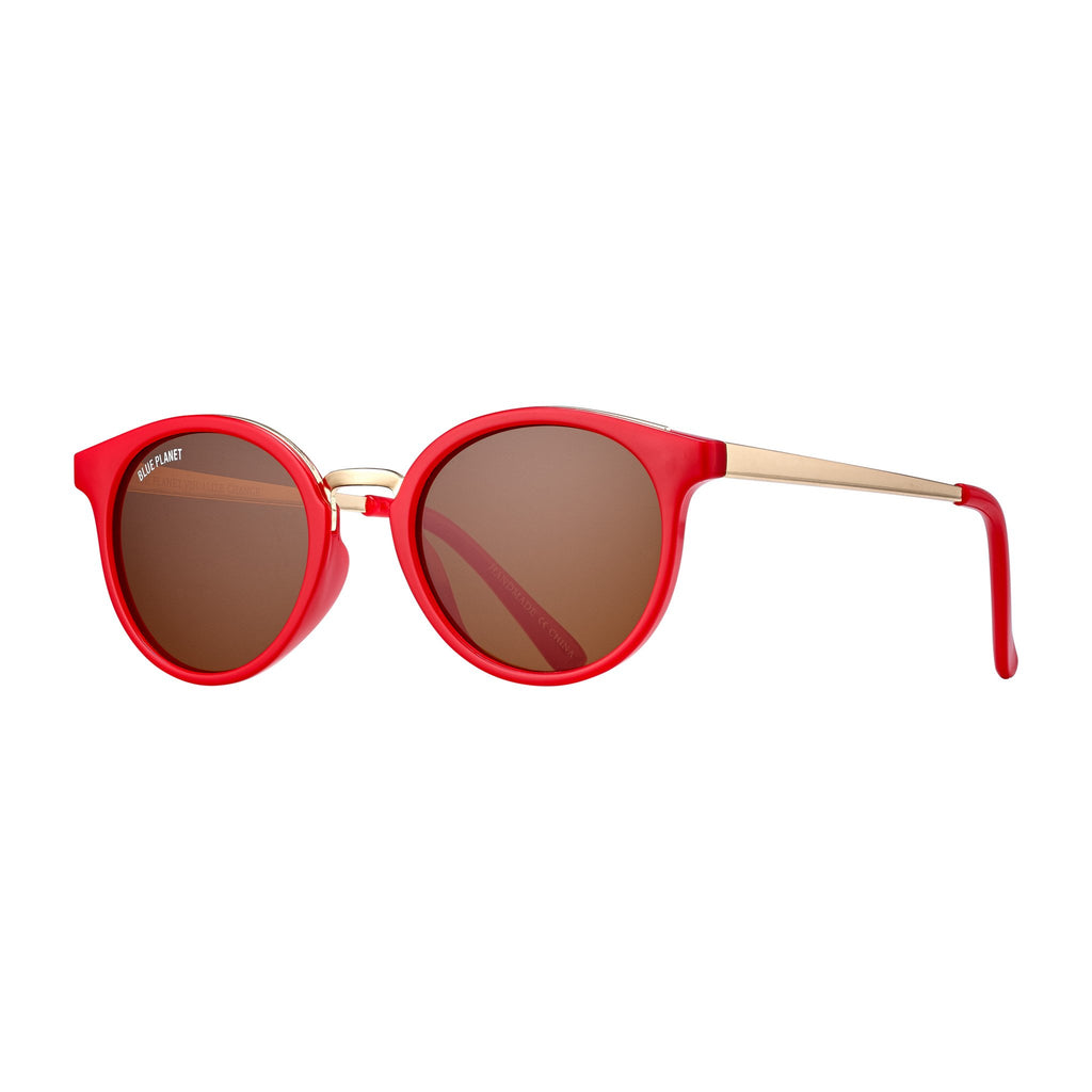Blue Planet - Lucca - Red/Gold/Brown Polarized
