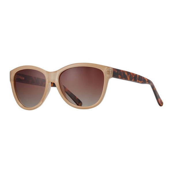 Blue Planet Eco-Eyewear - Jordyn - Beige / Walnut Tortoise + Gradient Brown Polarized Lens