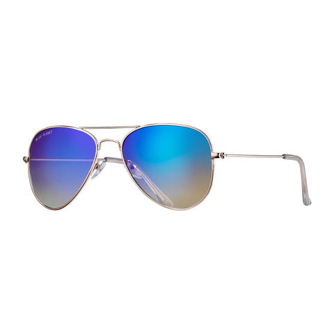 Blue Planet - Wright II - Gold/Gradiant Blue Mirror Polarized