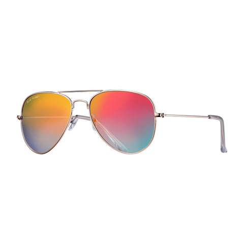 Blue Planet - Wright II - Gold/Gradiant Red Mirror Polarized