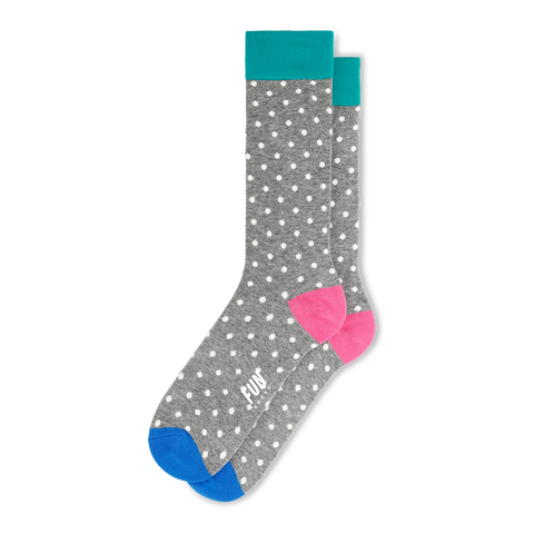 Fun Socks - Men's Micro Dot Socks - Grey Multi