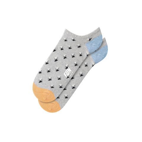Fun Socks - Stud Geo Low Cut - Light Grey