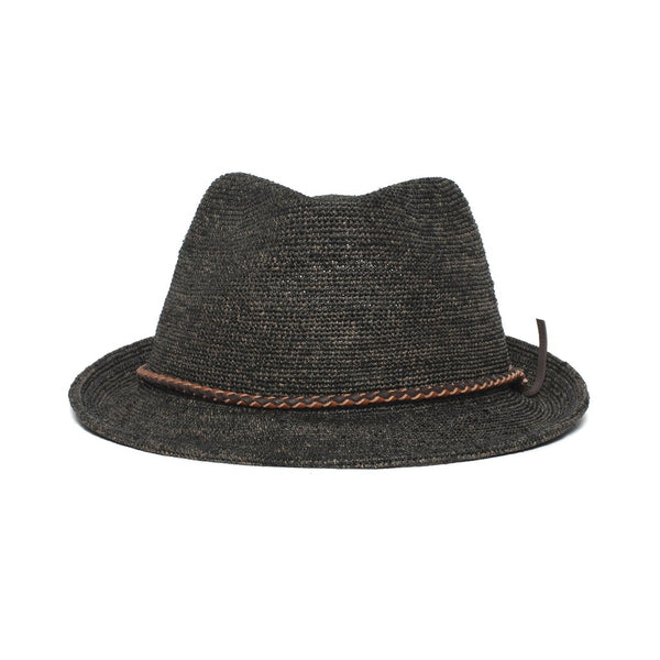 Goorin Bros. - Morning Glory Medium Brim Raffia Straw Fedora - Black
