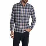 JACHS - Navy Plaid Stretch Double Face Shirt