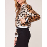Jack - Cat Power Leopard Faux Fur Bomber