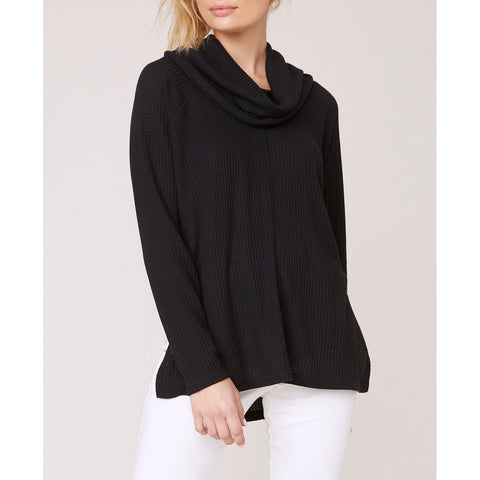 Jack - House of Waffles Cowl Neck Top