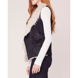 JACK - VEST INTENTIONS FAUX SUEDE AND FUR VEST