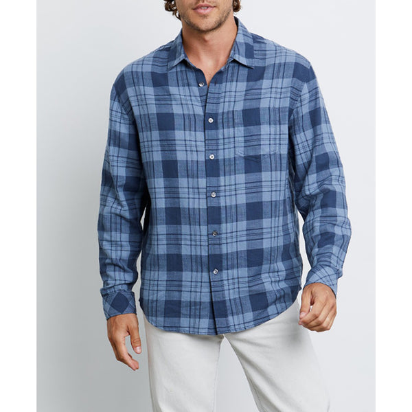 Rails - Wyatt - Button Down Shirt - Sky Blue Steel