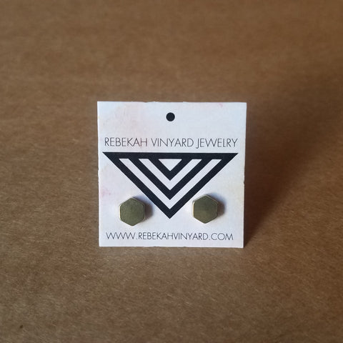 Rebekah Vinyard - Tiny Hexagon Studs