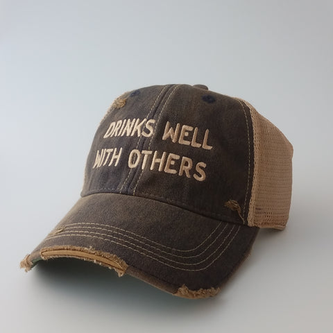 Retro Brand - Drinks Well With Others Trucker Cap