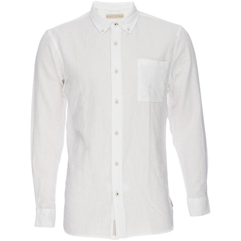 Nifty Genius - Truman Button Collar in Dobby - White