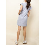 THML - V-Neck Shirt Dress - Heather Grey