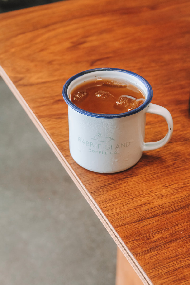 Rabbit Island Coffee Co. Enamel Mug