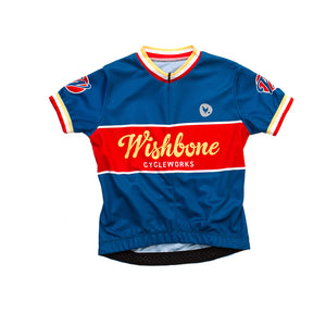 Wishbone Cycle Jersey - Blue