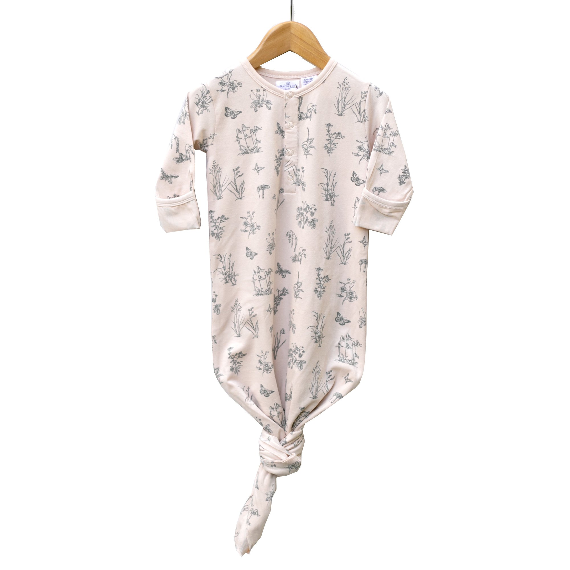Burrow & Be Sleep Gown in Blush Meadow