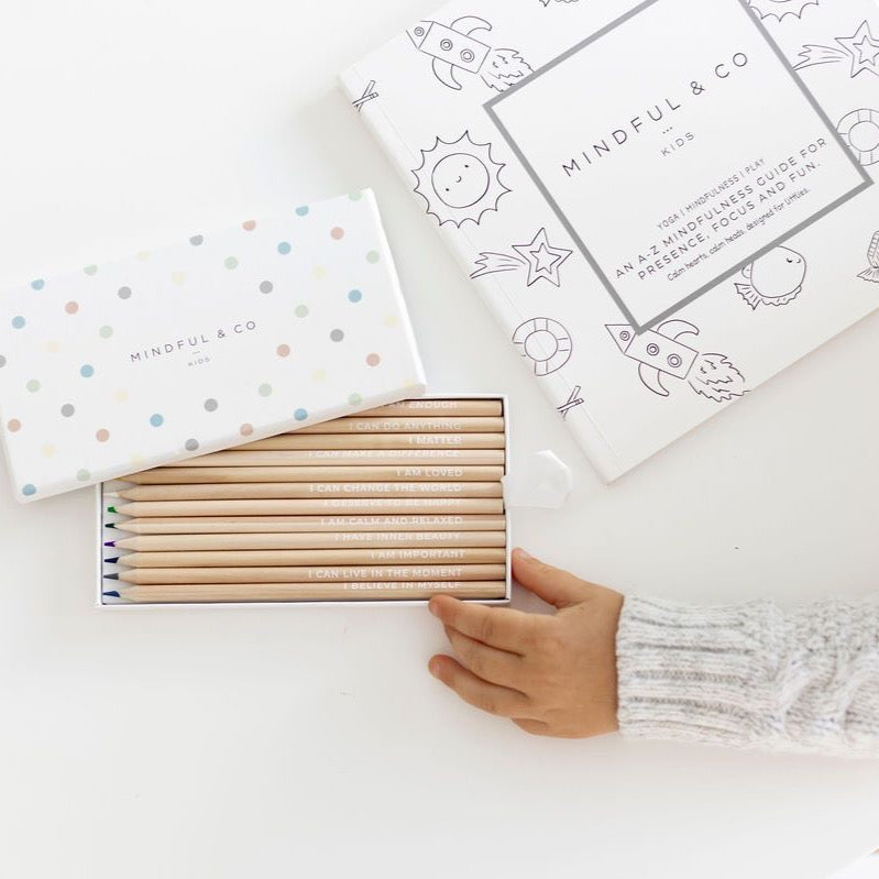 Mindful & Co Affirmation Colouring Pencils