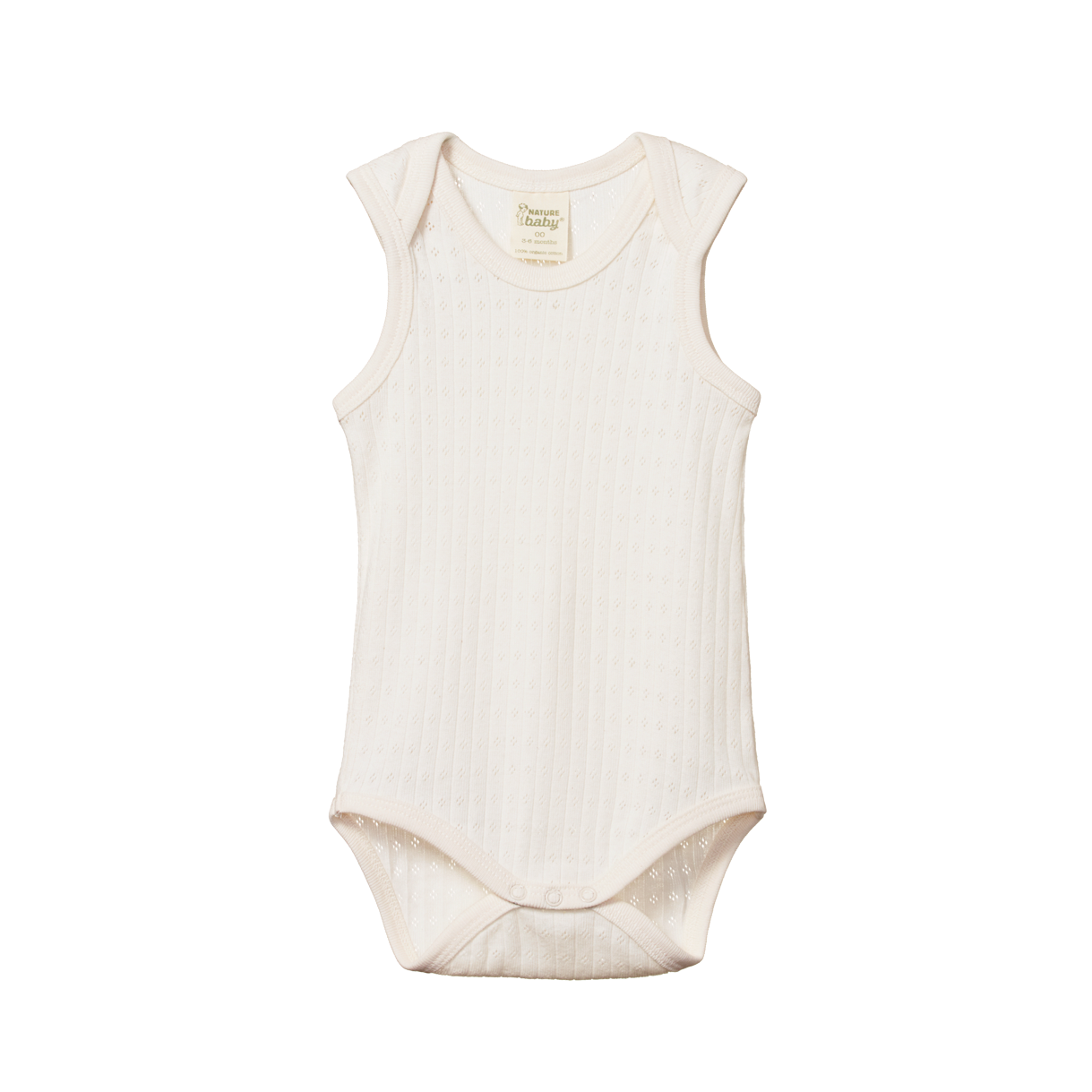 Nature Baby Pointelle Singlet Bodysuit in Natural