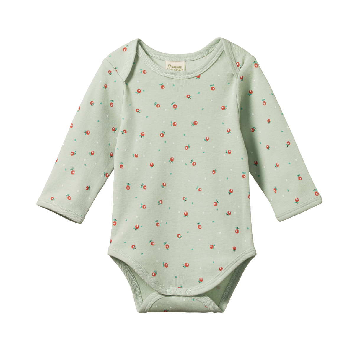Nature Baby Long Sleeved Bodysuit -Posey Blossom Print