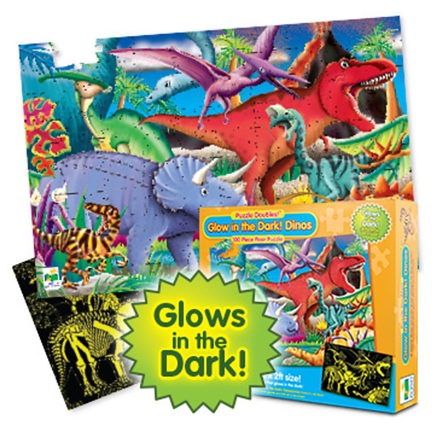 Puzzle Double - Glow in the Dark Dinosaur